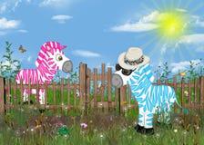 Zebra humor Royalty Free Stock Image