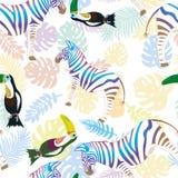 Zebra i pieprzojad Obraz Stock
