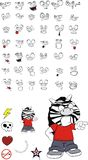 Zebra kid cartoon expression set5 Stock Photo