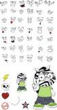 Zebra kid cartoon expression set7 Royalty Free Stock Photography