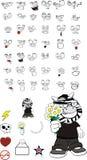 Zebra kid cartoon expression set9 Stock Images