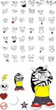 Zebra kid cartoon expression set10 Royalty Free Stock Images