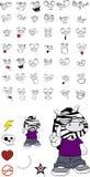 Zebra kid cartoon expression set12 Royalty Free Stock Photos