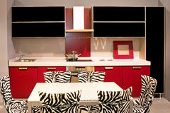 Zebra kitchen Stock Image