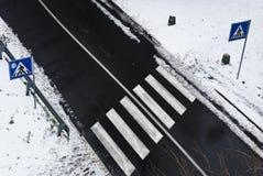 Zebra-Kreuz Lizenzfreie Stockfotos