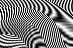Zebra Design Black and White Stripes Vector Royalty Free Stock Photos