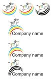 Animal logo. Logo with zebra and rainbow Royalty Free Stock Image