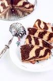 Zebra Marmurowy tort Fotografia Royalty Free