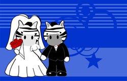 Zebra married cartoon background Stock Photo