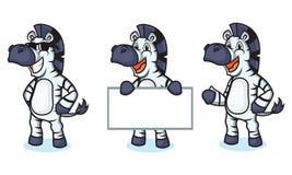 Zebra Mascot happy Royalty Free Stock Images