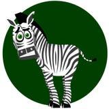 Zebra in modo divertente illustrazione vettoriale