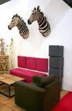 Zebra nell'interiore Fotografie Stock Libere da Diritti