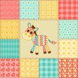 Zebra patchworku wzór Fotografia Royalty Free