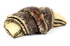 Zebra pattern croissant Royalty Free Stock Image