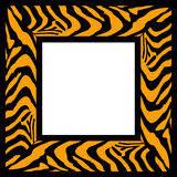 Zebra pattern frame. An image of a frame which has a zebra print painted onto it in black and orange Stock Image