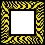 Zebra pattern frame border Stock Photography
