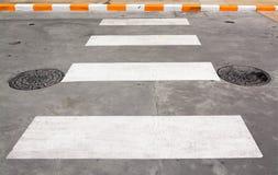 Zebra pedestrian crossing Royalty Free Stock Image