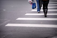 Zebra pedestrian crossing line Royalty Free Stock Photos