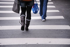 Zebra pedestrian crossing line Stock Photography