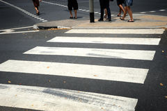 Zebra pedestrian crossing line Royalty Free Stock Photography