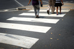 Zebra pedestrian crossing line Stock Photo