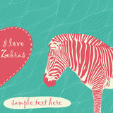 Zebra with place for text Stock Photo