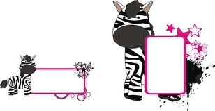 Zebra plush baby toy cute cartoon copyspace Stock Photo