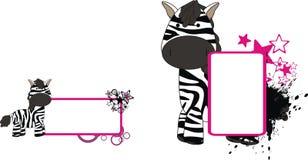Zebra plush baby toy cute cartoon copyspace. In vector format royalty free illustration