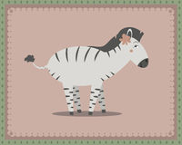 Zebra posing Royalty Free Stock Photography