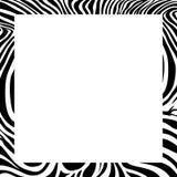 Zebra print border, frame design. Royalty Free Stock Photos
