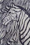 Zebra print. Close up of zebra print fabric background royalty free stock photography