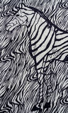 Zebra print. Close up of zebra print fabric background royalty free stock image