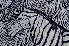 Zebra print. Close up of zebra print fabric background stock photos
