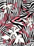 Zebra print pattern. Animal print, seamless zebra texture background Royalty Free Stock Photos