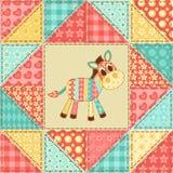 Zebra quilt pattern Stock Photos
