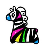 Zebra rainbow Royalty Free Stock Image