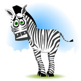 Zebra ridícula ilustração royalty free