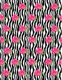 Zebra Rose Pattern Vector Royalty Free Stock Photography