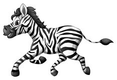 A zebra running vector illustration