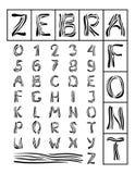 Zebra-Schrifttyp Stockfotos
