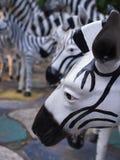 Zebra Sculpture Arranged Stock Image