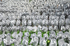 Zebra sculptures Stock Photos