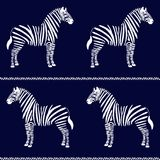 Zebra seamless pattern Stock Photo