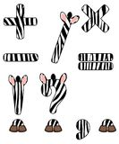 Zebra set of signs. Zebra set of isolated signs Royalty Free Stock Photo