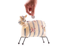 Zebra Shaped Piggy Bank Royalty Free Stock Image