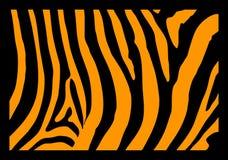 Zebra Skin. A detail in black and orange of Zebra skin royalty free illustration