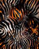 Zebra skin. Pattern.It can be used as a background