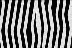Zebra skin texture. Black and white lining at zebra body Stock Illustration