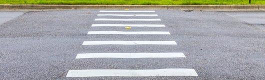 Zebra sposób na asfaltowej drogowej powierzchni obraz royalty free