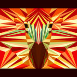 Zebra stares forward. Abstract geometric polygonal triangle illustration Stock Photo
